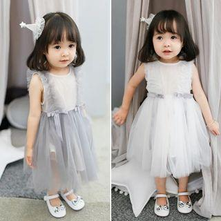 High Quality Exquisite Tulle Party Dress for Kids Girls