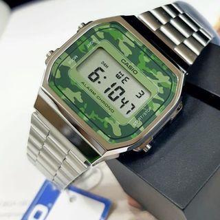 全新 Casio 經典鋼錶 迷彩錶面