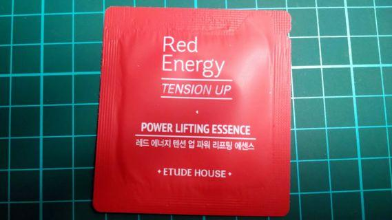 🚚 [小樣] Etude House 彤顏煥發~彈力緊顏修護精華 red energy power lifting essence