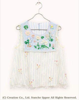 ❤️一口價$999 Franche Lippee Cherir la Femme 花刺繡蕾絲層 上衣