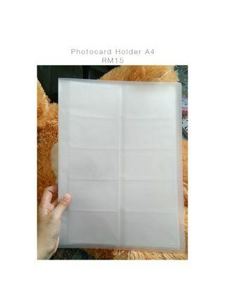 Photocard A4 size holder