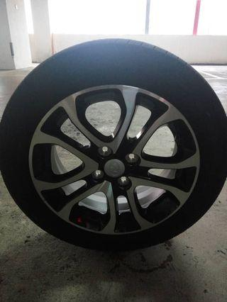 Rim and tyre myvi S.E Goodyear assurance