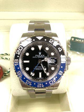 2013 Rolex GMT Master II Batman 116710BLNR