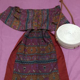 Dress tenun sabrina