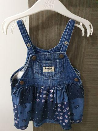 Osh kosh baby girl overall dress