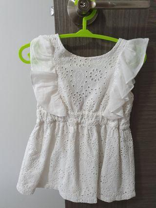 Cotton on baby girl ruffled sleeves dress