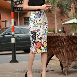 Top & mickey mouse skirt set