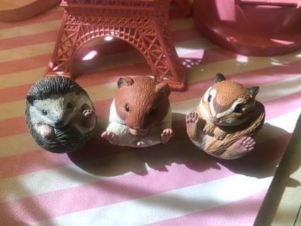 🚚 Cute Japan Bandai Miniatures Flurry Small Animals Rement Display Set