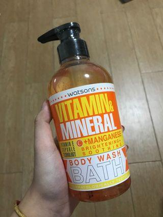 Watsons vitamin and mineral body wash