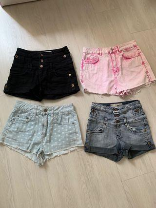Clearance!! Topshop Denim Moto/Mom Shorts - UK 6/8 - $8 per piece only