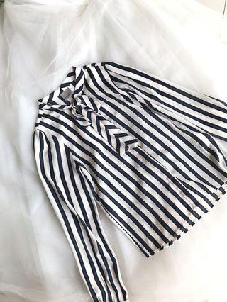 Vero Moda bow sheer long sleeves blouse