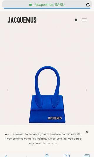 Jacquemus blue bag