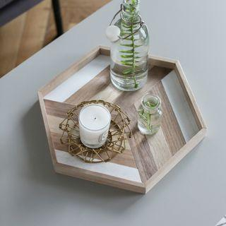 Piecing Wooden Tray/ Food Serving Tray/ Wooden Decor