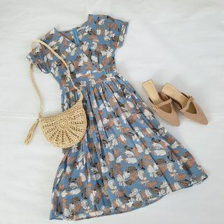 Another One Floral Midi Dress Size M