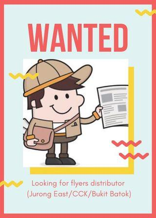 Wanted flyers distributor