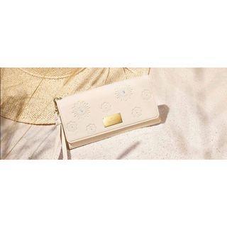 swarovski 晶燦旅行 白色手拿包 長夾 皮夾