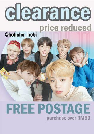 (Clearance Sale) BTS 💜