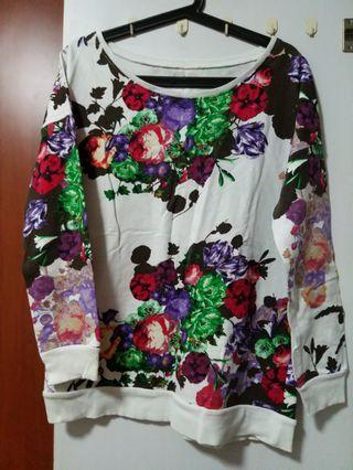 Promod Cotton Floral Pullover