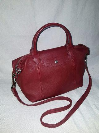 Long Champ Leather Red lacquer original