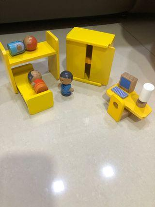 Sevi Wooden dollhouse accessories