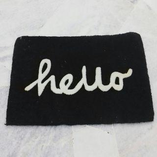 Door Mat Hello Acrylic Wool