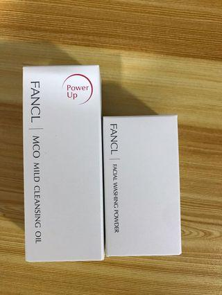Fancl mild cleansing oil and facial washing powder