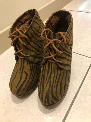 Forever 21/豹紋/高根鞋/根高10.5cm
