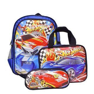Tas sekolah anak. Tas beranak hot wheels. Dapat semua sesuai gambar. Barang dijamin sesuai gambar. Rp.95000