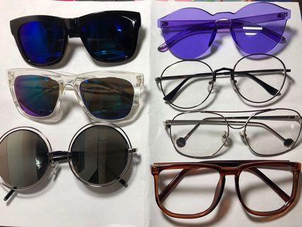 太陽眼鏡 造型眼鏡 一付20$