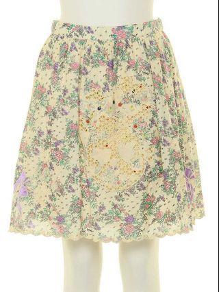 ❤️一口價$380 Franche Lippee 金線小蘋果 刺繡碎花 半截裙