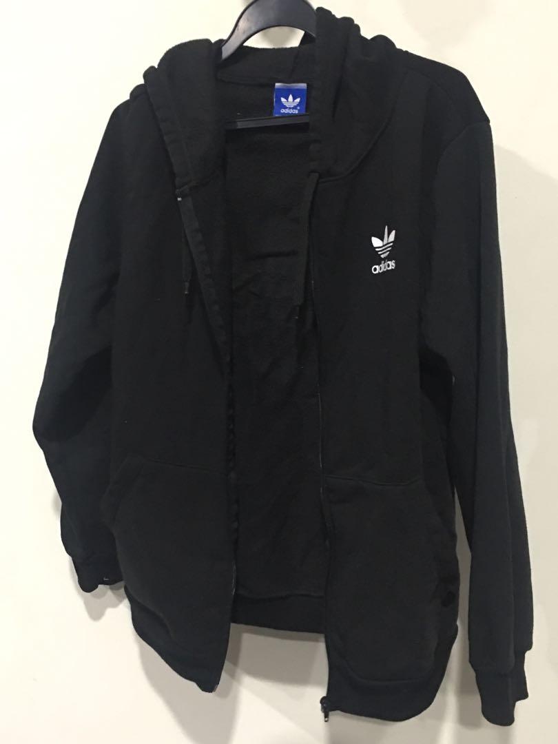 por supuesto Guarda la ropa Experto  Adidas Originals Zip Up Hoodie (Black size S/M), Vintage & Collectibles,  Vintage Collectibles on Carousell