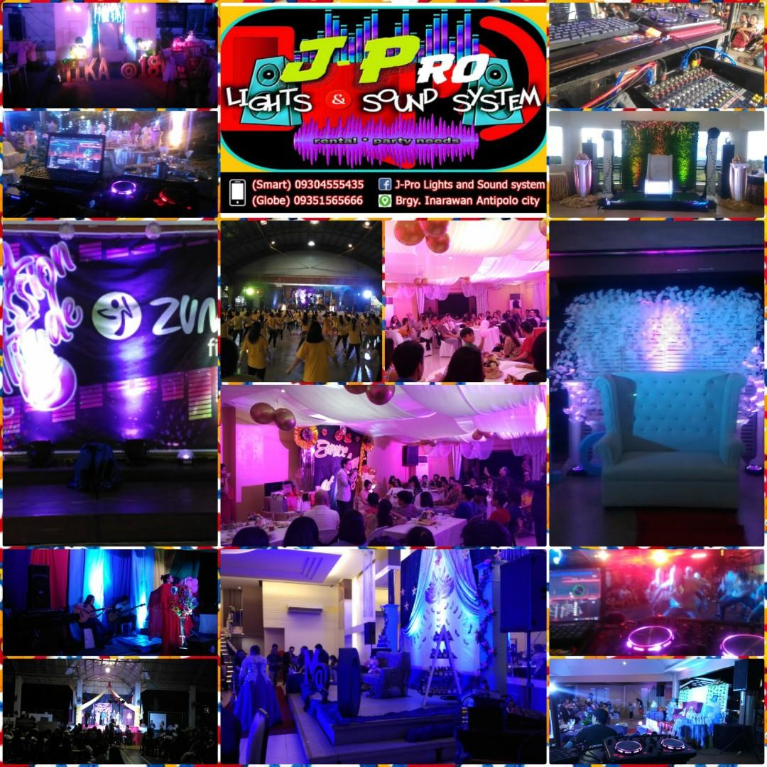 Affordable lights and sounds rental / party needs