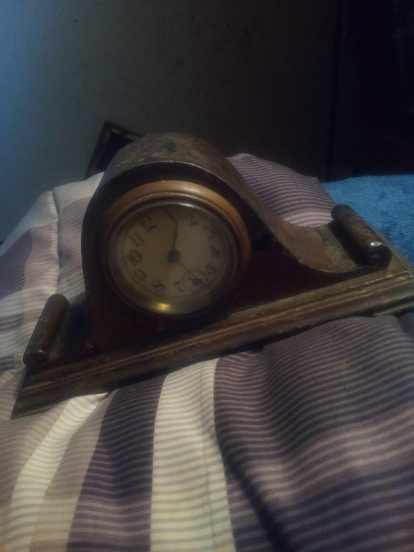 Antique miniature mantle clock made USA