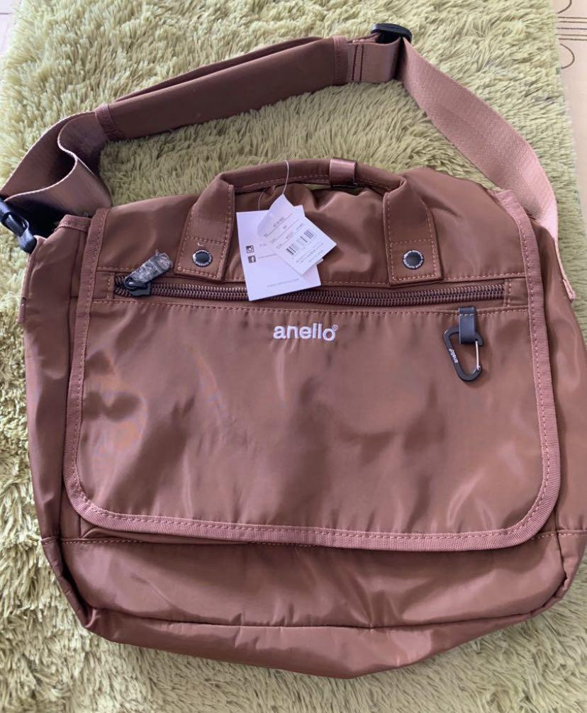 Authentic Anello urban street messenger in brown