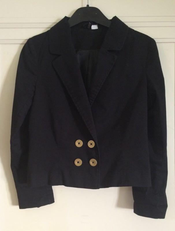 Black blazer, H&M, size XS