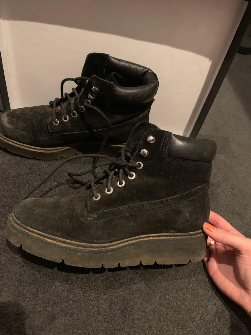 Black festival boots
