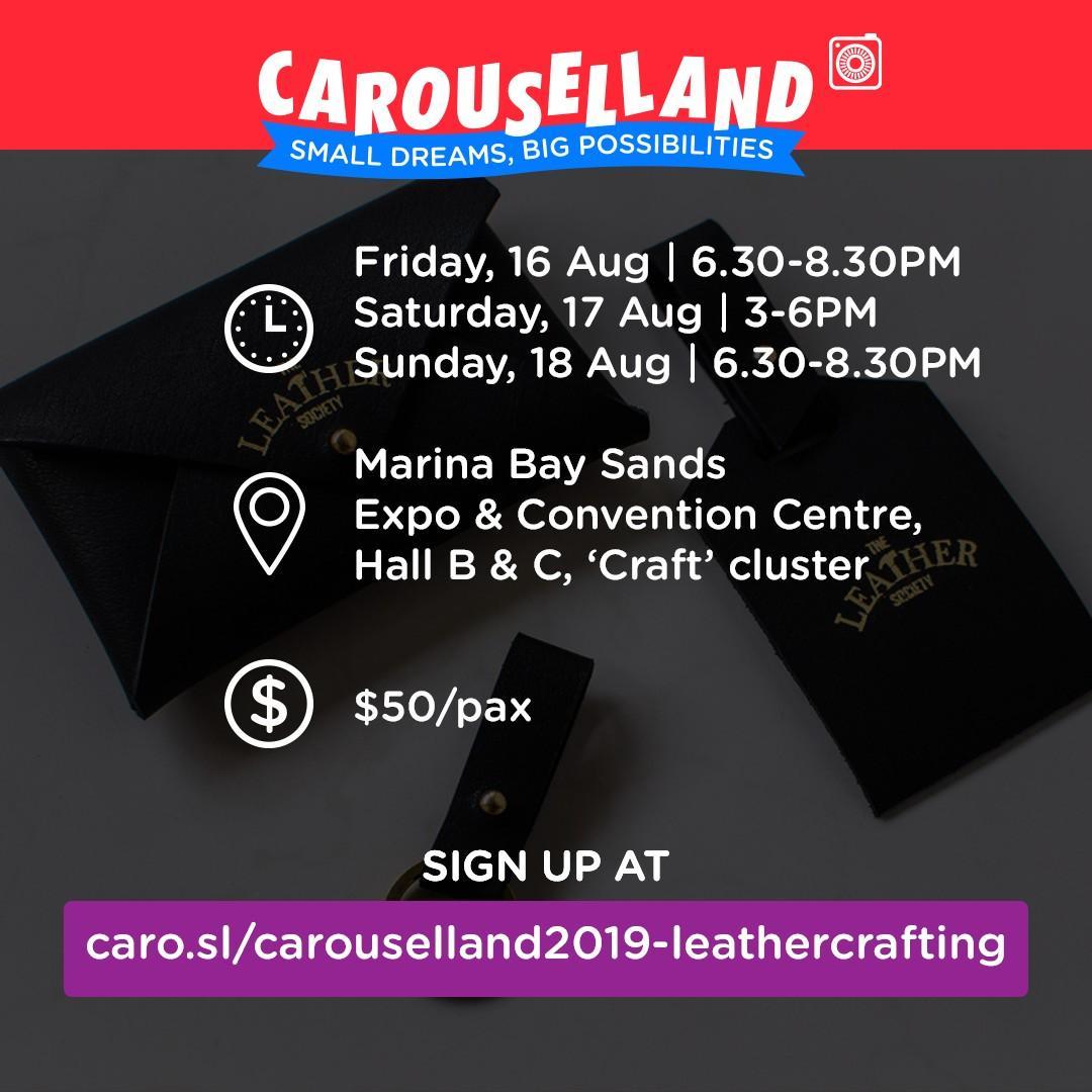 Carouselland 2019: Basic Leather Crafting Workshop