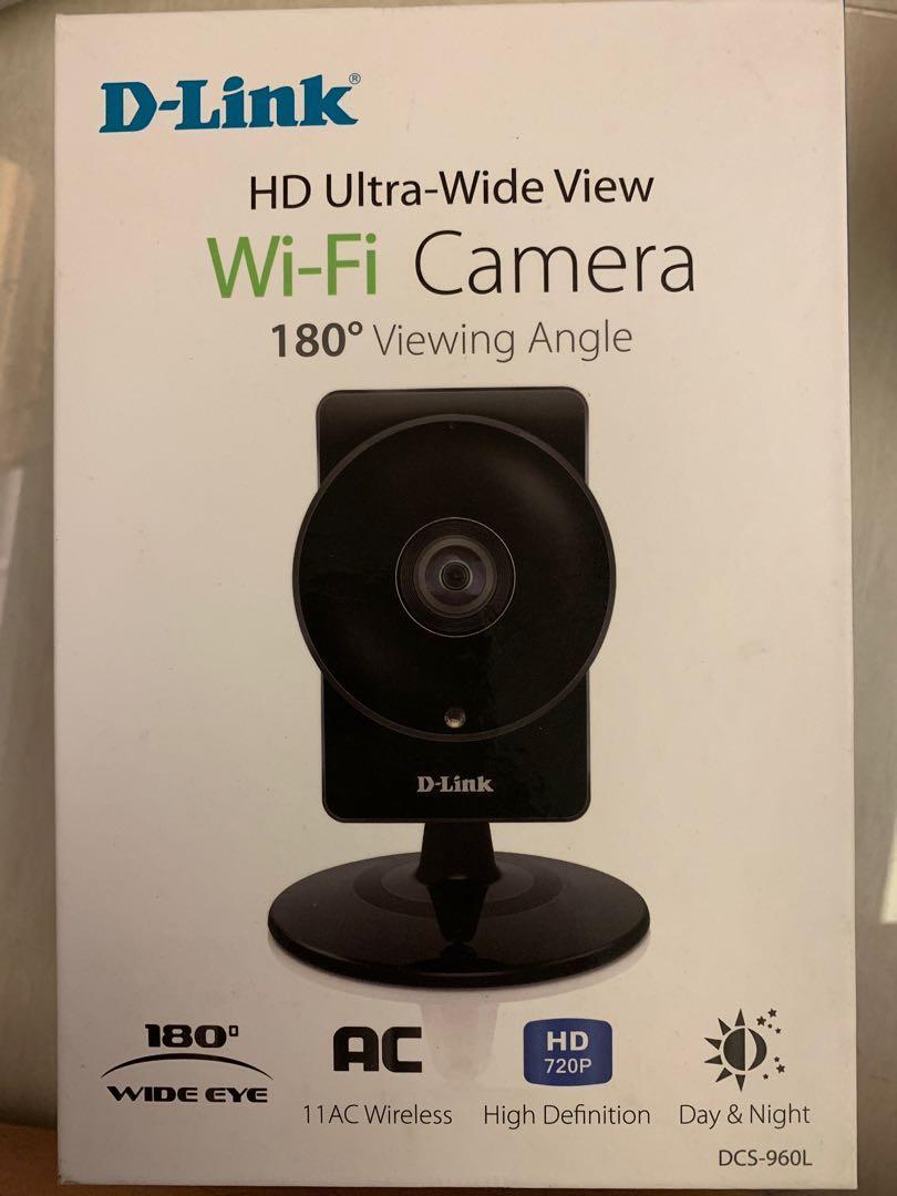 DLink wifi camera 180deg viewing angle dcs-960L
