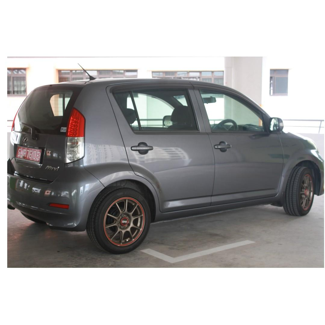 Faultless Sporty Perodua Myvi Daihatsu Engine Weekend/Off Peak OPC CAR best car to go to Malaysia Best selling car Roadtax $70per yr! Price Nego No lowballing  FULL CASH to me owner, not agent.   Get your own loan
