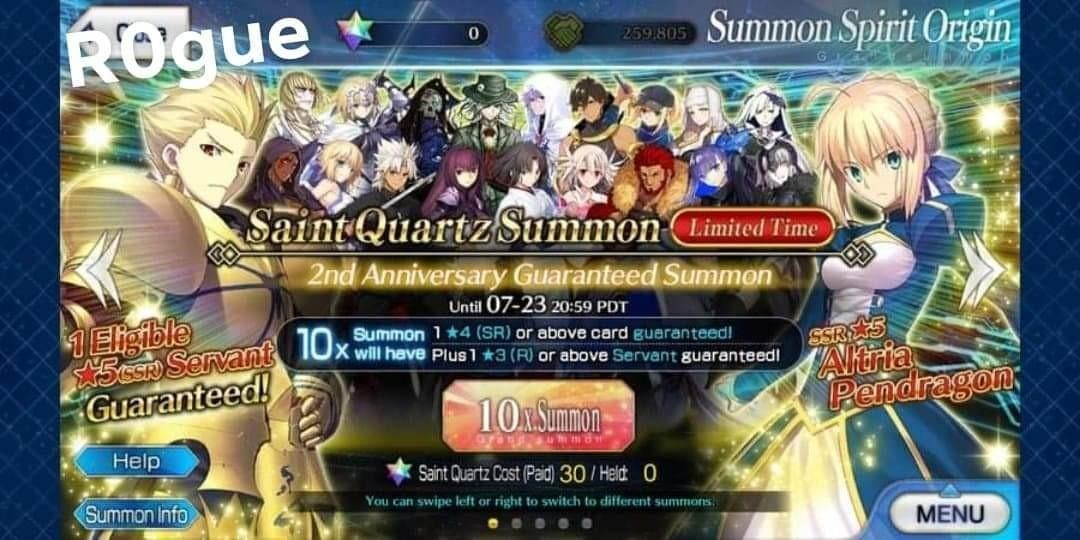 FGO NA SLOW TOP UP AVAILABLE NOW