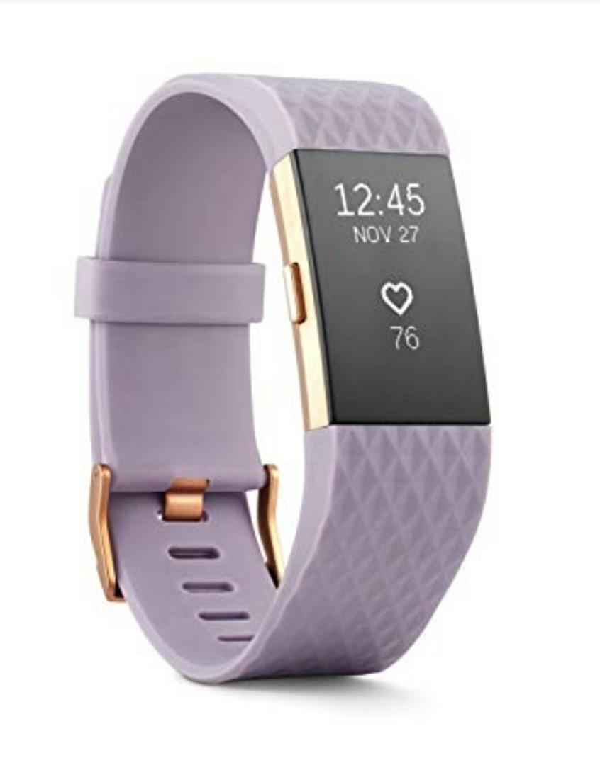 Fitbit Charge 2   Special Edition, Lavender Rose Gold, Small