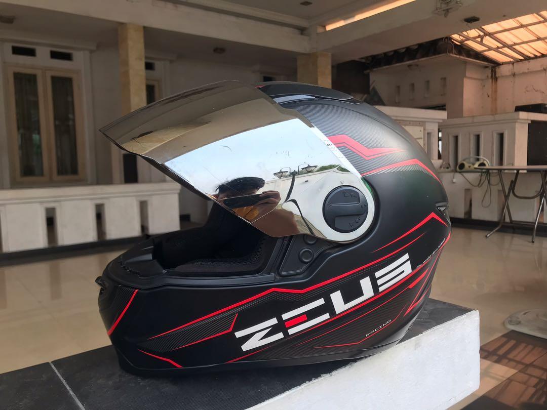 Helm Zeus Full Face Aksesoris Mobil Di Carousell