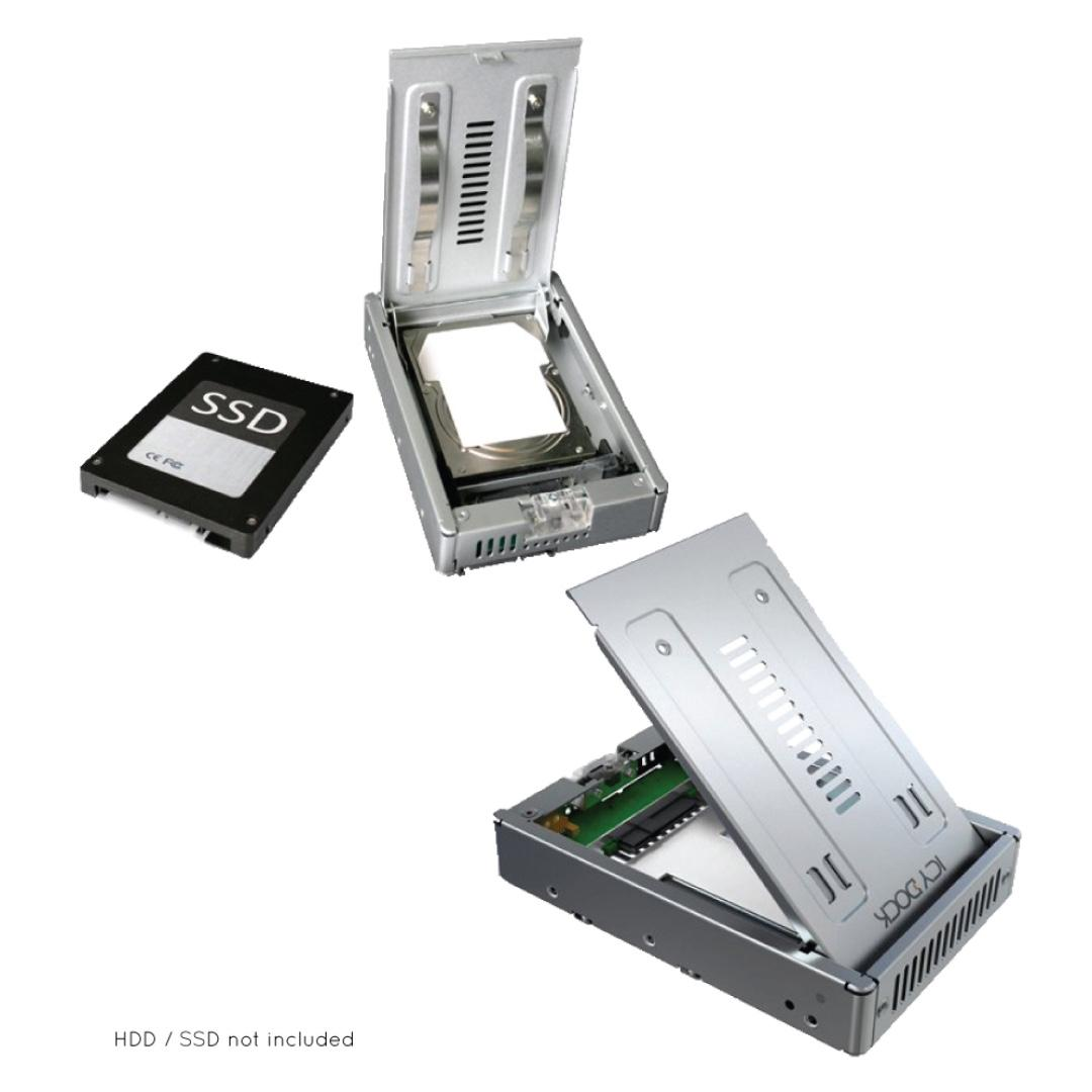 """MB982SP-1S ICY DOCK Enterprise 2.5/"""" to 3.5/"""" SATA SSD /& HDD Converter Mounting"""