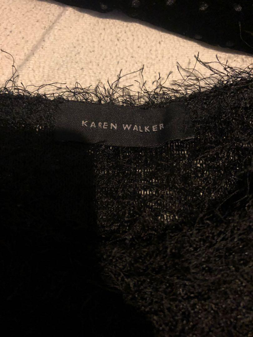 Karen Walker fluffy sweatshirt/throw-over