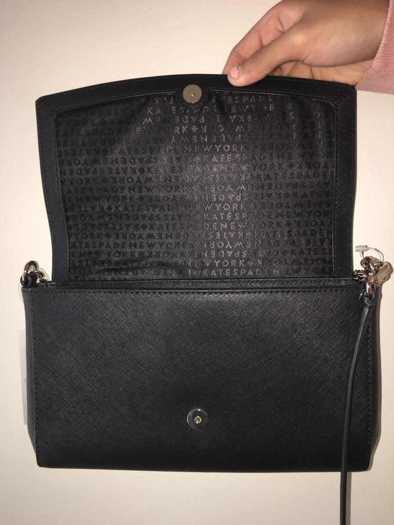 Kate Spade Black Leather Shoulder/Hand Bag (Brand New & Authentic)