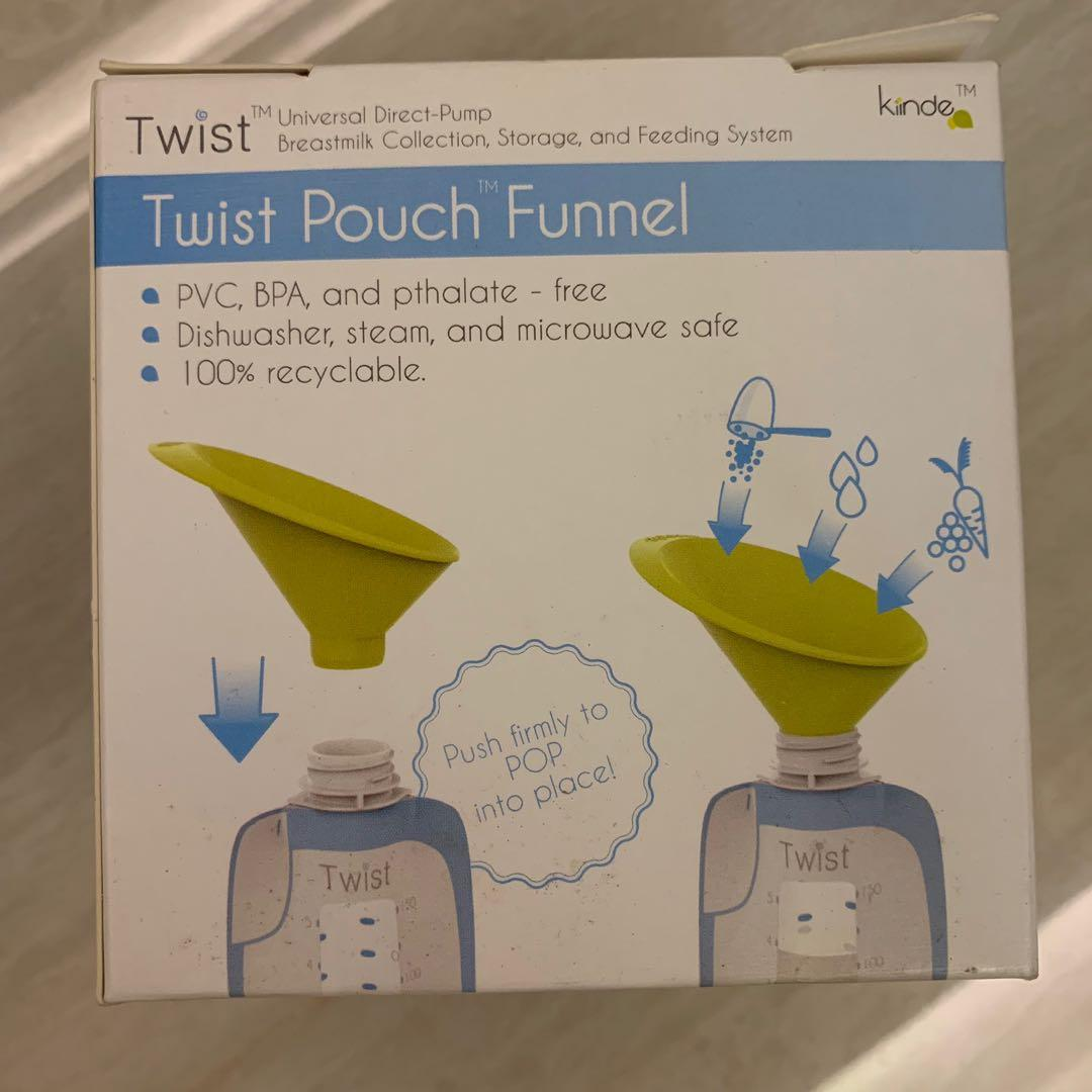Kinde twist pouch funnel