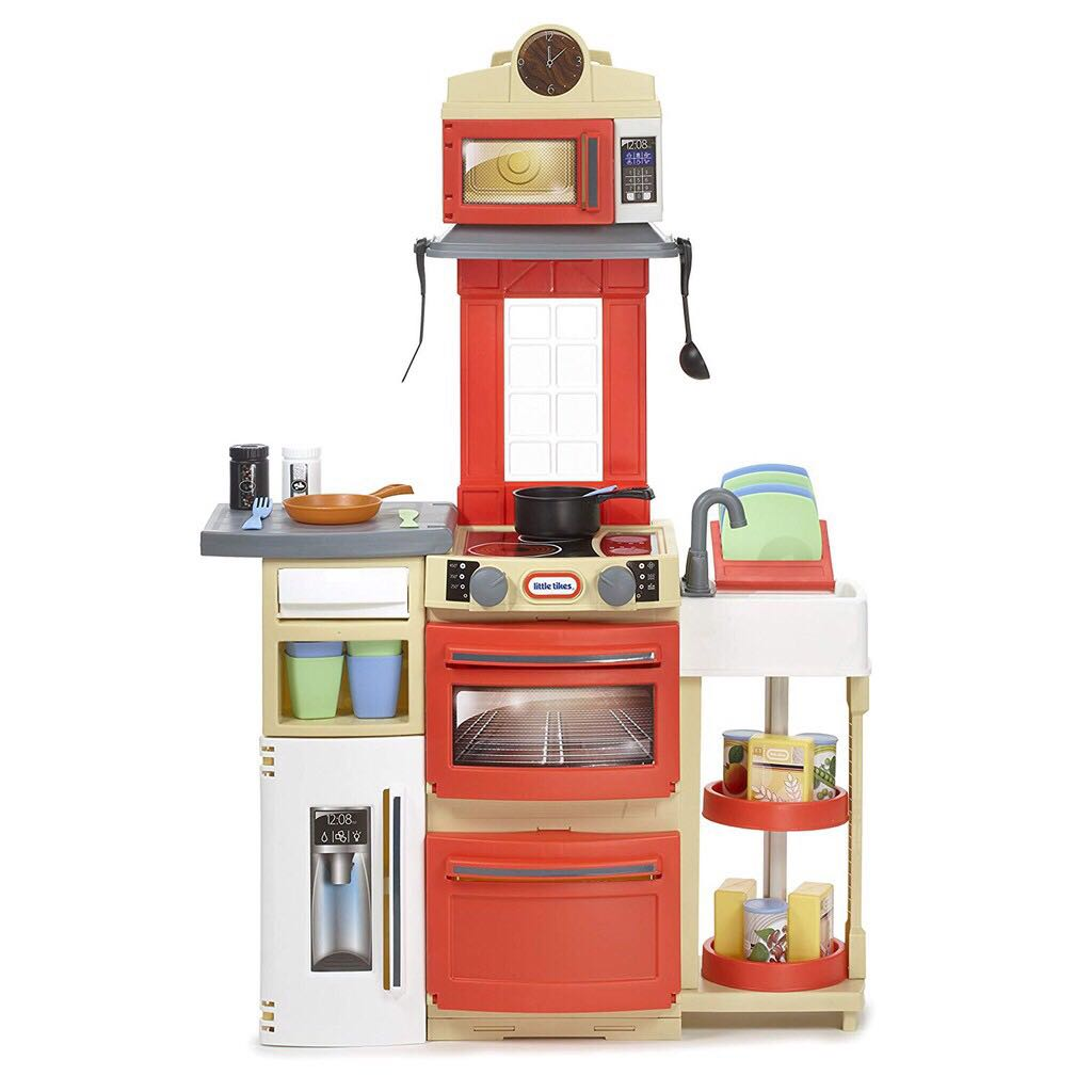Little Tikes Cook N Store Kitchen Set Red