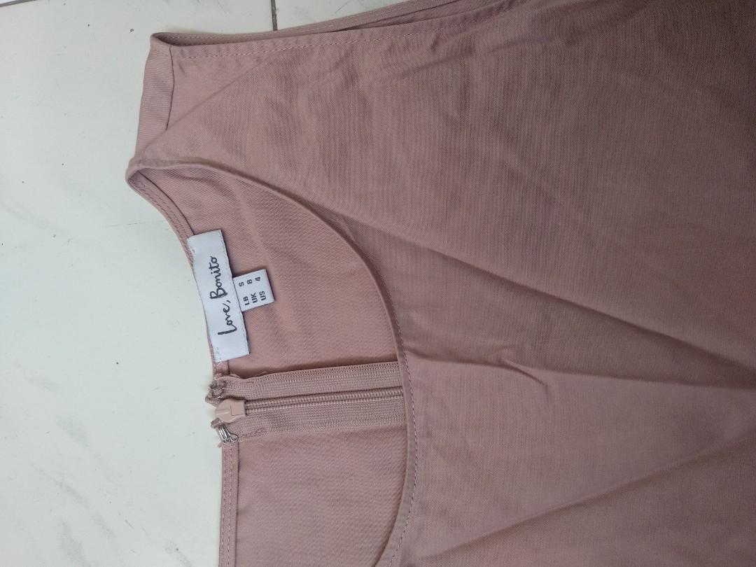 Love Bonito pink trumpet flare dress