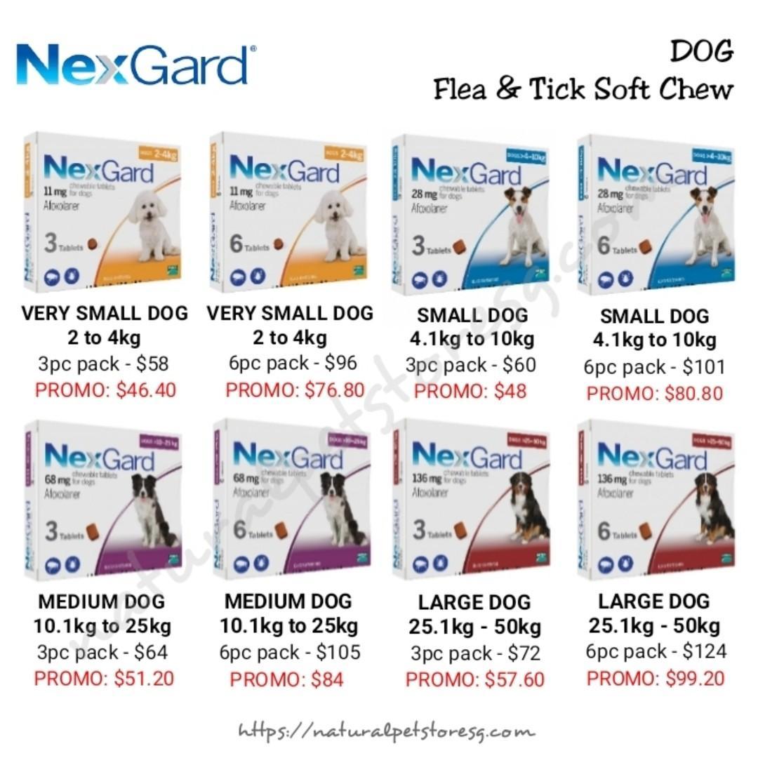 Nexgard Flea & Tick Soft Chews for Dogs