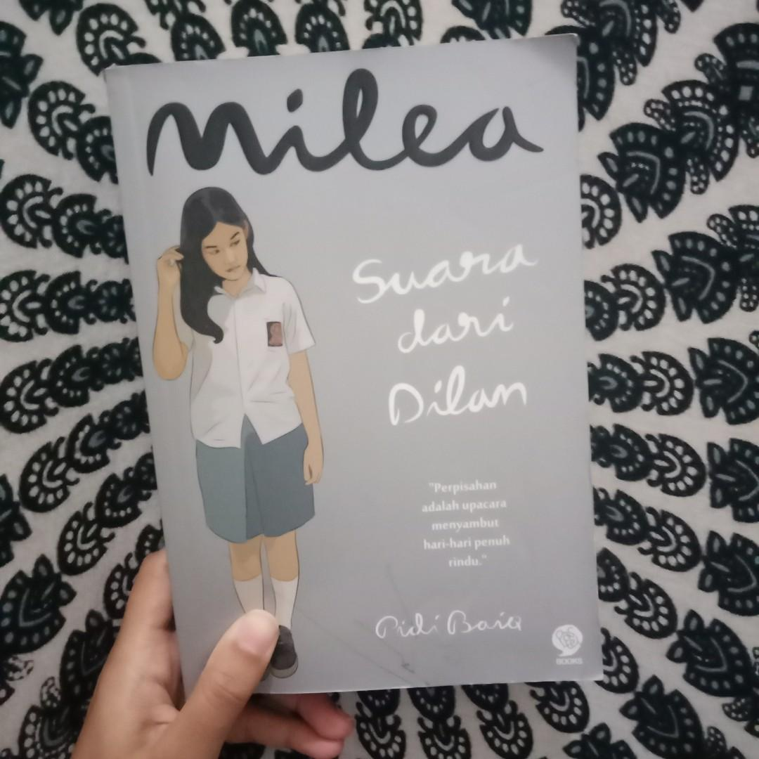 novel milea suara dari dilan pidi baiq books stationery books